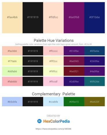 Palette image download - Wheat – Black – Bisque – Purple – Midnight Blue