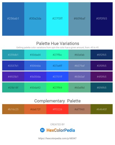 Palette image download - Royal Blue – Pale Green – Aqua – Cadet Blue – Midnight Blue