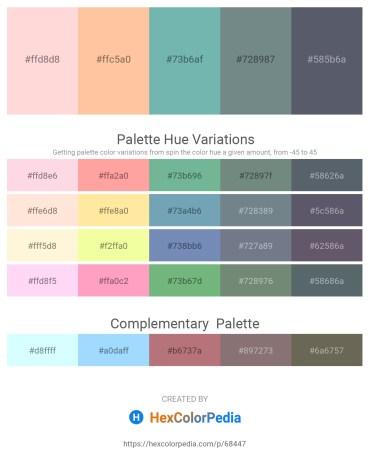 Palette image download - Misty Rose – Navajo White – Cadet Blue – Slate Gray – Slate Gray