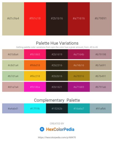 Palette image download - Tan – Red – Rosy Brown – Firebrick – Rosy Brown