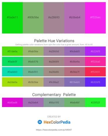 Palette image download - Lime – Dark Sea Green – Rosy Brown – Medium Turquoise – Magenta
