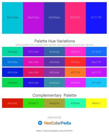 Palette image download - Dark Turquoise – Blue Violet – Dark Slate Blue – Deep Pink – Blue