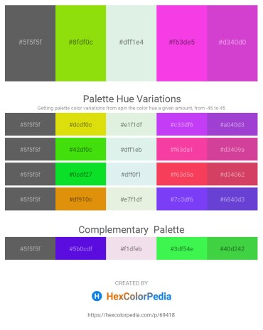 Palette image download - Dim Gray – Lawn Green – Powder Blue – Magenta – Orchid