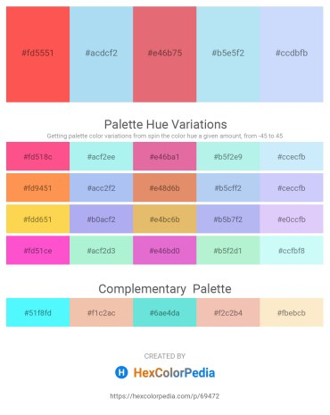 Palette image download - Tomato – Pale Turquoise – Pale Violet Red – Pale Turquoise – Alice Blue