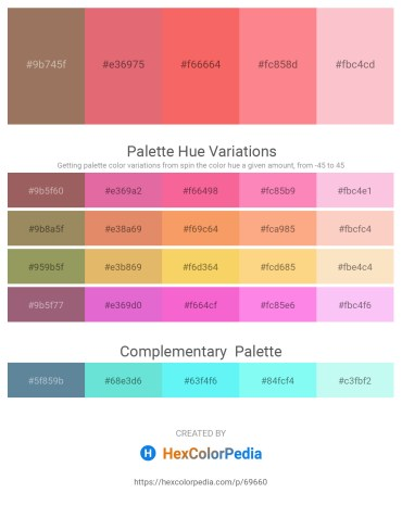 Palette image download - Rosy Brown – Pale Violet Red – Salmon – Salmon – Pink