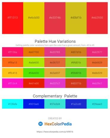 Palette image download - Red – Gold – Crimson – Goldenrod – Crimson