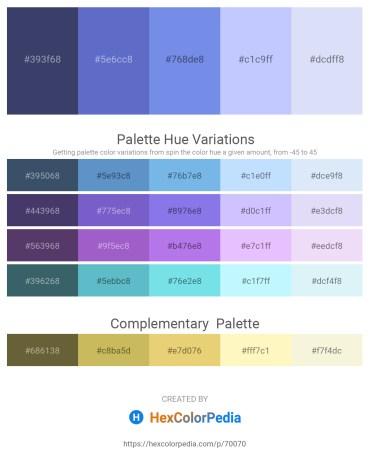 Palette image download - Dark Slate Blue – Slate Blue – Cornflower Blue – Alice Blue – Lavender