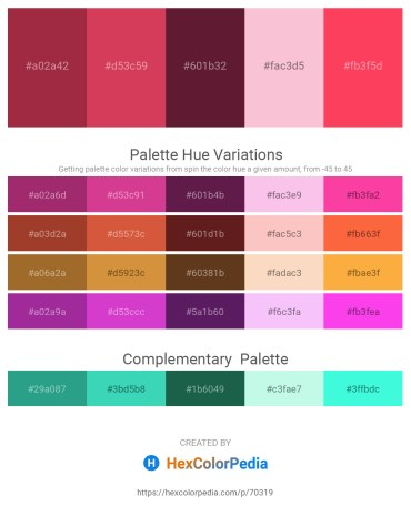 Palette image download - Brown – Indian Red – Brown – Pink – Tomato