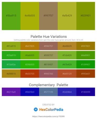 Palette image download - Olive Drab – Dark Goldenrod – Dark Khaki – Yellow Green – Olive