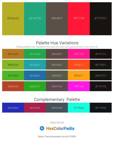Palette image download - Yellow Green – Light Sea Green – Dim Gray – Red – Black