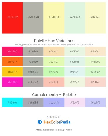 Palette image download - Red – Dark Gray – Light Goldenrod Yellow – Beige – Light Goldenrod Yellow