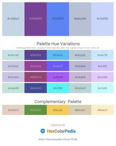 Palette image download - Light Steel Blue – Dark Slate Blue – Cornflower Blue – Light Steel Blue – Alice Blue