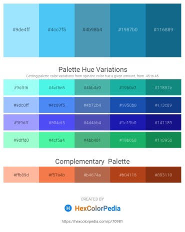 Palette image download - Light Sky Blue – Cornflower Blue – Steel Blue – Indian Red – Teal