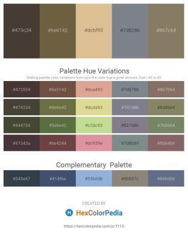 Palette image download - Dim Gray – Dark Olive Green – Burlywood – Slate Gray – Gray