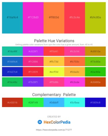 Palette image download - Light Sea Green – Magenta – Coral – Tomato – Slate Blue
