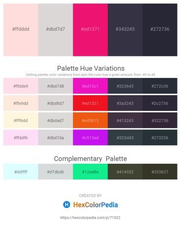 Palette image download - Misty Rose – Gainsboro – Medium Violet Red – Dark Sea Green – Tomato