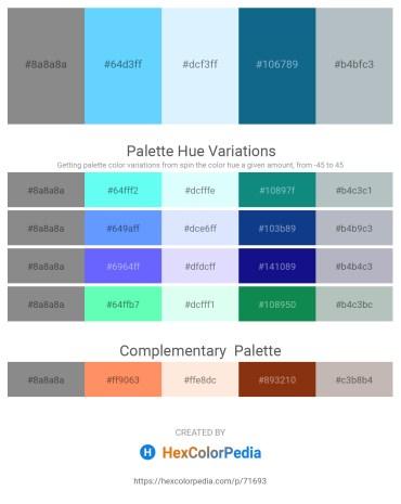Palette image download - Gray – Light Sky Blue – Light Cyan – Teal – Light Steel Blue
