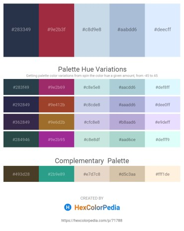 Palette image download - Dark Slate Gray – Brown – Light Steel Blue – Light Steel Blue – Alice Blue