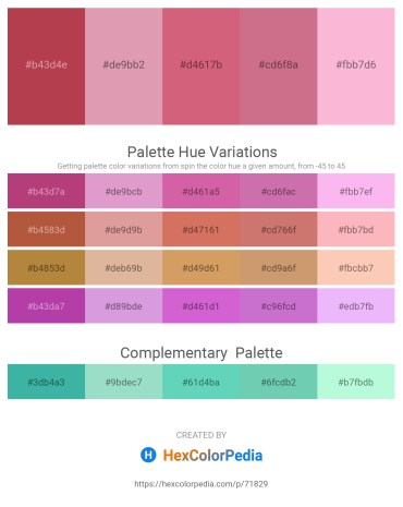 Palette image download - Indian Red – Plum – Pale Violet Red – Pale Violet Red – Pink