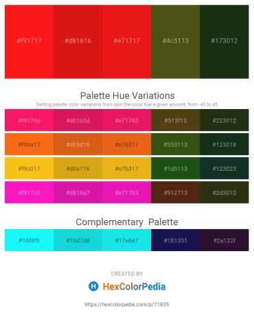 Palette image download - Red – Crimson – Crimson – Dark Orange – Orange