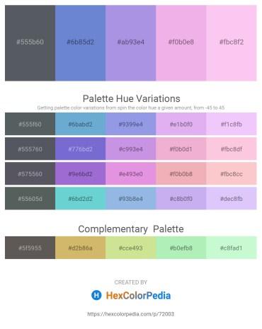 Palette image download - Slate Gray – Slate Blue – Medium Purple – Violet – Pink