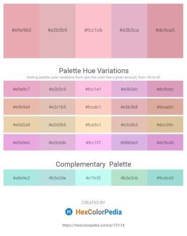Palette image download - Dark Salmon – Plum – Pink – Plum – Dark Slate Gray