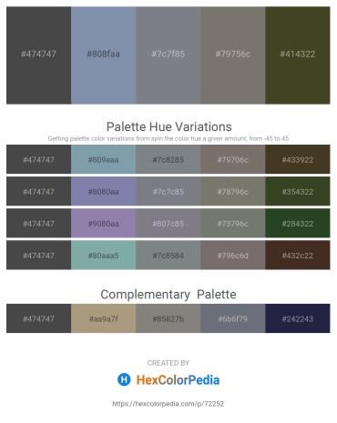 Palette image download - Dim Gray – Light Slate Gray – Slate Gray – Dim Gray – Dark Olive Green