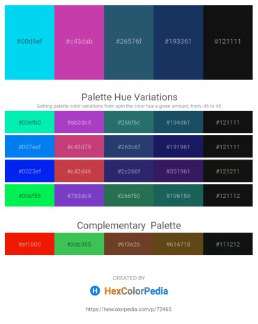 Palette image download - Deep Sky Blue – Pale Violet Red – Blue – Midnight Blue – Black