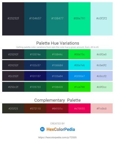 Palette image download - Black – Midnight Blue – Teal – Black – Pale Turquoise