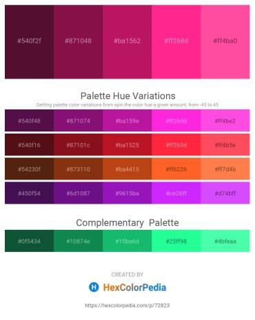 Palette image download - Aqua – Firebrick – Medium Violet Red – Deep Pink – Hot Pink