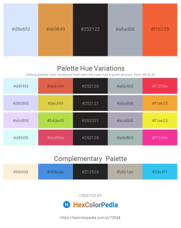Palette image download - Alice Blue – Peru – Black – Light Slate Gray – Tomato