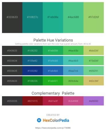 Palette image download - Dark Slate Gray – Teal – Light Sea Green – Medium Sea Green – Dark Khaki