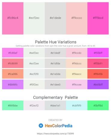 Palette image download - Hot Pink – White Smoke – Gainsboro – Antique White – Hot Pink