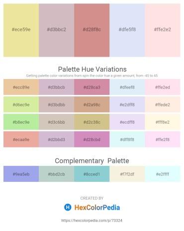 Palette image download - Pale Goldenrod – Thistle – Peru – Lavender – Misty Rose