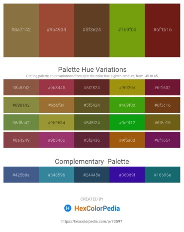 Palette image download - Dark Olive Green – Sienna – Dark Khaki – Olive – Saddle Brown