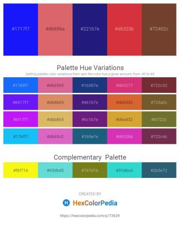 Palette image download - Blue – Indian Red – Midnight Blue – Firebrick – Sienna