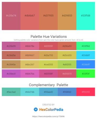 Palette image download - Indian Red – Indian Red – Peru – Peru – Aqua