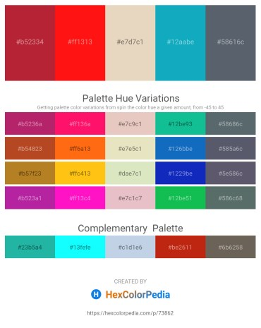 Palette image download - Firebrick – Red – Beige – Light Sea Green – Slate Gray