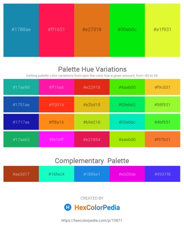 Palette image download - Light Sea Green – Deep Pink – Chocolate – Lime – Green Yellow