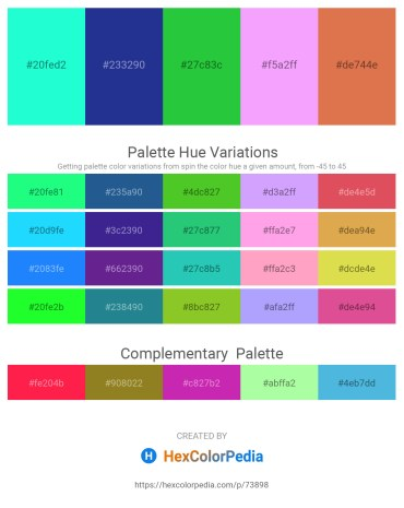Palette image download - Aqua – Midnight Blue – Lime Green – Indian Red – Peru