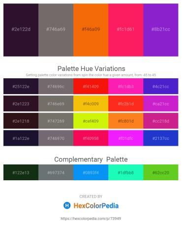 Palette image download - Midnight Blue – Dim Gray – Dark Orange – Deep Pink – Blue Violet