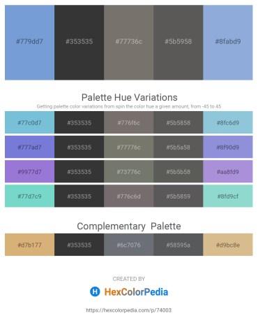Palette image download - Medium Purple – Dim Gray – Dim Gray – Dim Gray – Light Steel Blue