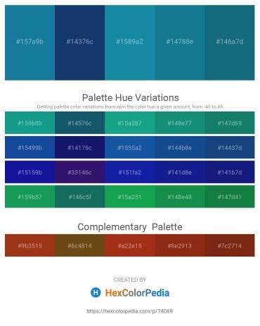 Palette image download - Dodger Blue – Midnight Blue – Light Sea Green – Blue – Blue