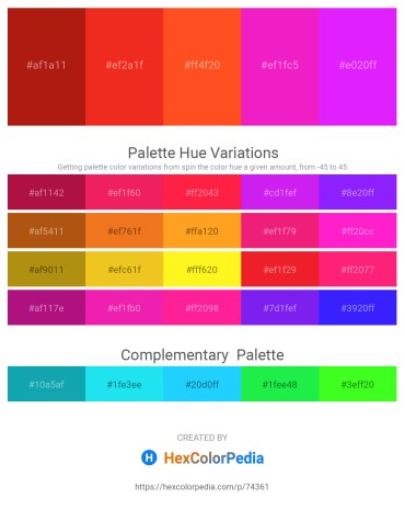 Palette image download - Firebrick – Crimson – Orange Red – Deep Pink – Dark Violet