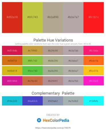 Palette image download - Crimson – Yellow Green – Black – Dark Gray – Red
