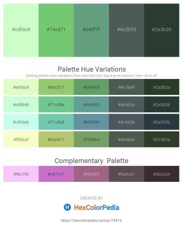 Palette image download - Honeydew – Medium Aquamarine – Cadet Blue – Dark Slate Gray – Dark Slate Gray