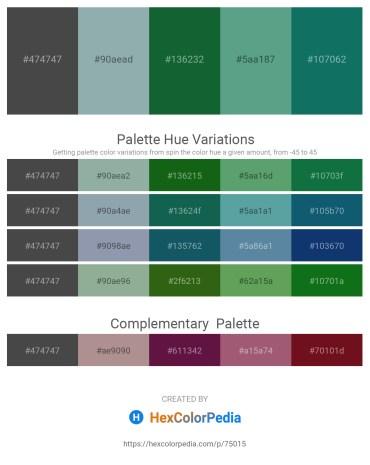 Palette image download - Dim Gray – Light Slate Gray – Forest Green – Cadet Blue – Teal