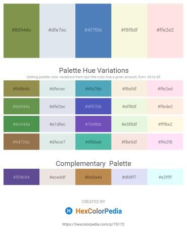 Palette image download - Dark Olive Green – Light Steel Blue – Steel Blue – Beige – Misty Rose