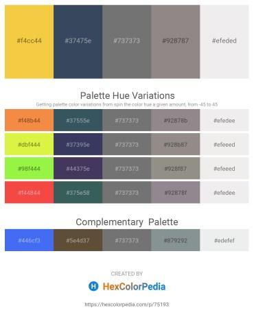 Palette image download - Sandy Brown – Dark Slate Gray – Dim Gray – Gray – White Smoke