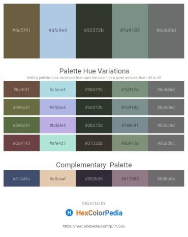 Palette image download - Dark Olive Green – Light Blue – Dark Slate Gray – Slate Gray – Slate Gray